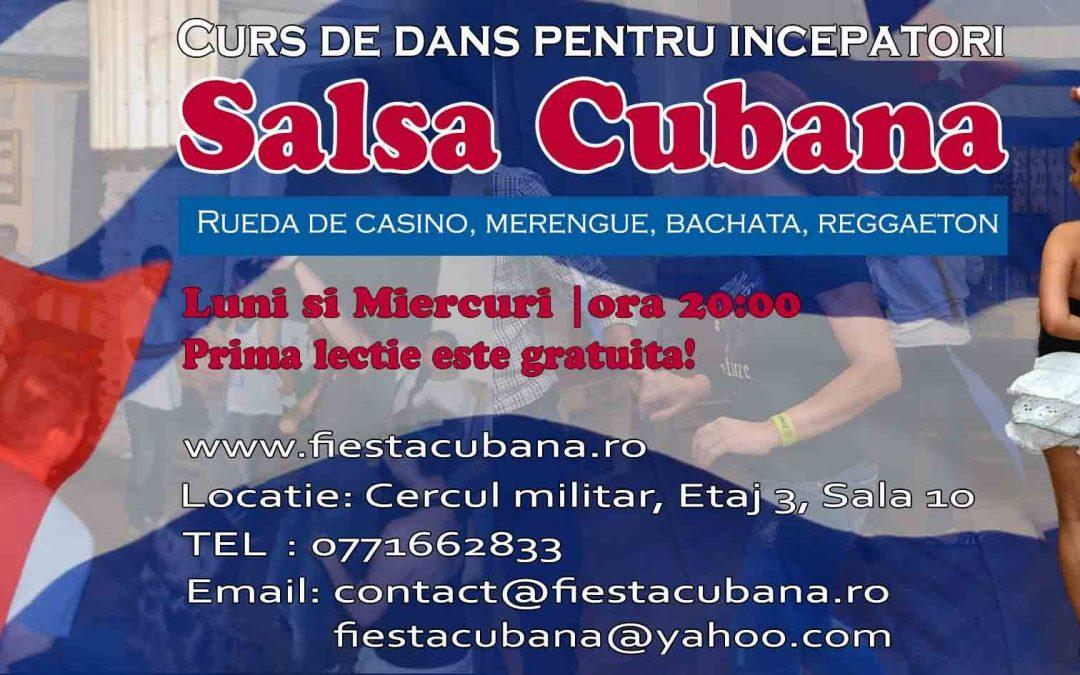Curs nou de dans, salsa cubana pentru incepatori 17.10.2016